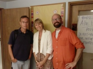 Hopper with director Maxine Trump and producer Josh Granger at the Seattle screening of Musicwood on August 12th.
